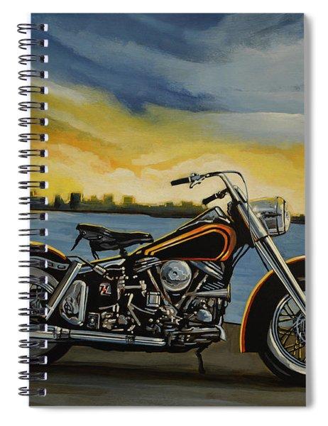 Harley Davidson Duo Glide Spiral Notebook
