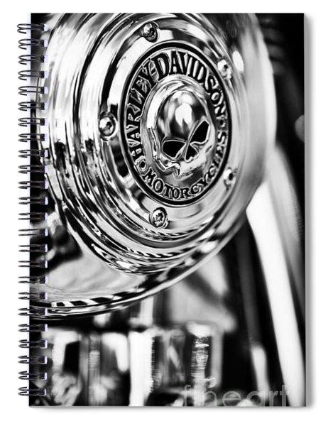 Harley Davidson Skull Casing Spiral Notebook