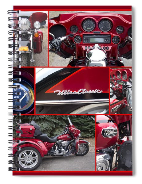 Spiral Notebook featuring the photograph Harley Davidson Ultra Classic Trike by Patti Deters