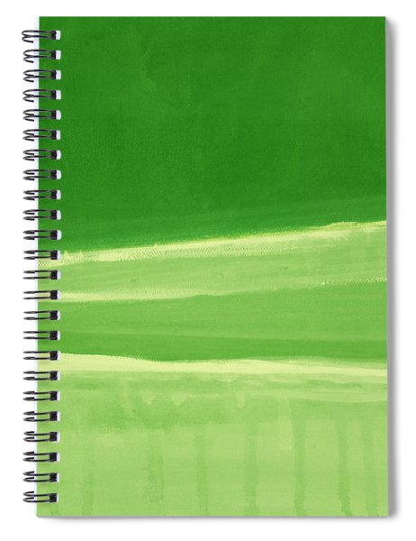 Harmony In Green Spiral Notebook by Linda Woods