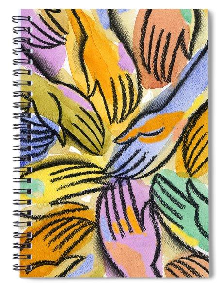 Multi-ethnic Harmony Spiral Notebook