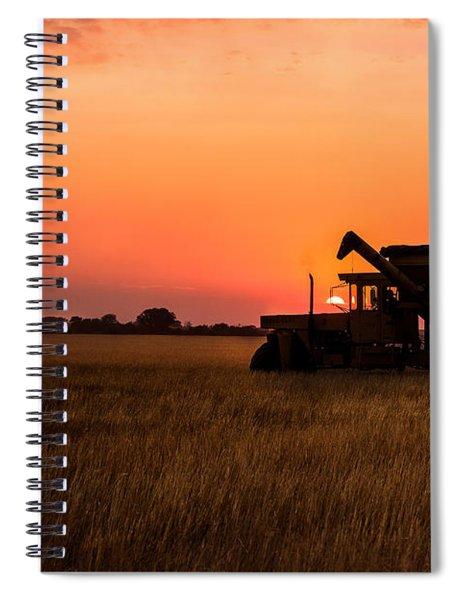 Harvest Sunset Spiral Notebook