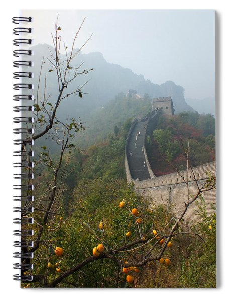 Harvest Time At The Great Wall Of China Spiral Notebook