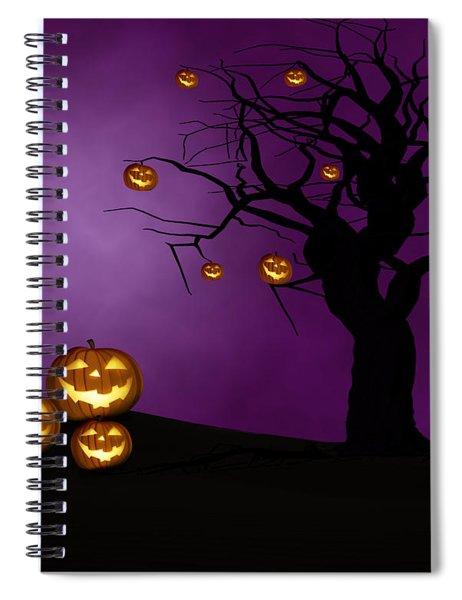 Haunted Halloween Spiral Notebook