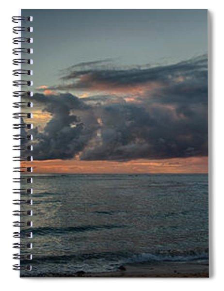 Hauula Sunrise Panorama Spiral Notebook
