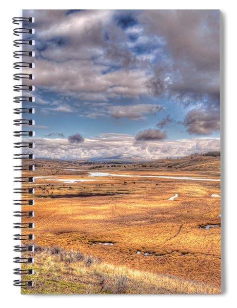 Hayden Valley Bison On Yellowstone River Spiral Notebook