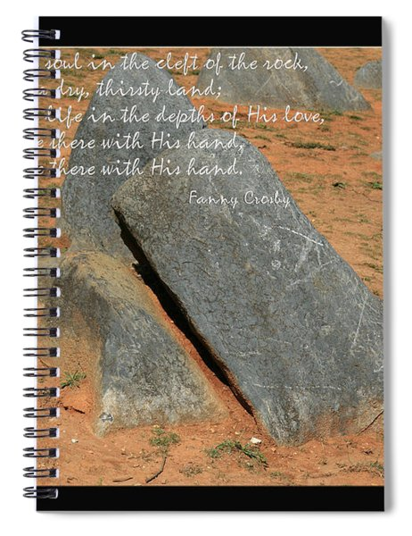 He Hideth Me In The Cleft Fanny Crosby Hymn Spiral Notebook