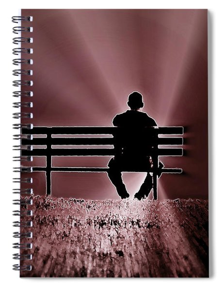 He Spoke Light Into The Darkness Spiral Notebook