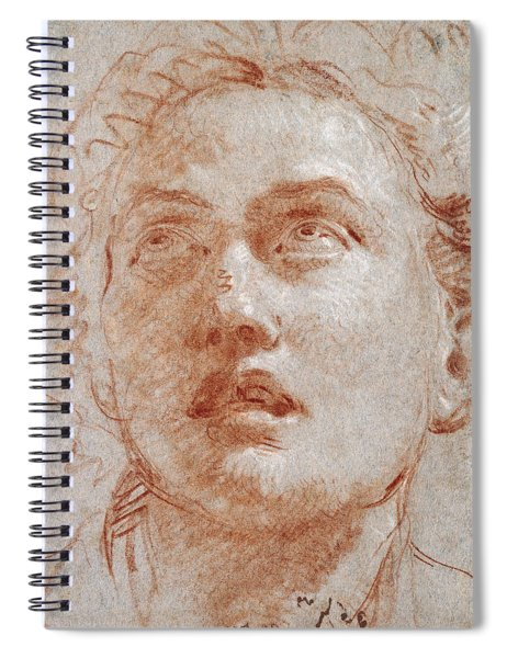 Head Of A Man Looking Up Spiral Notebook