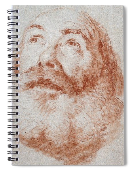 Head Of An Old Man Looking Up Spiral Notebook