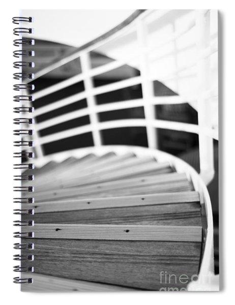 Heading Down In Monochrome Spiral Notebook