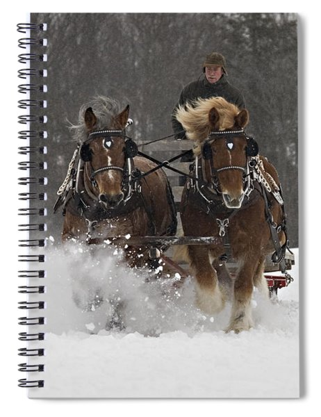Heading To The Finish Spiral Notebook