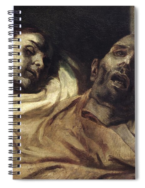 Heads Of Torture Victims, Study For The Raft Of The Medusa  Spiral Notebook