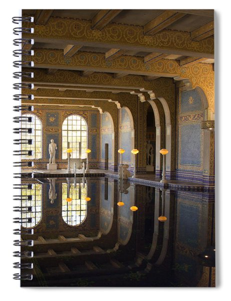Hearst Castle Roman Pool Reflection Spiral Notebook