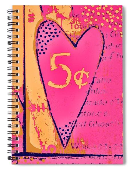 Heart Five Cents Spiral Notebook