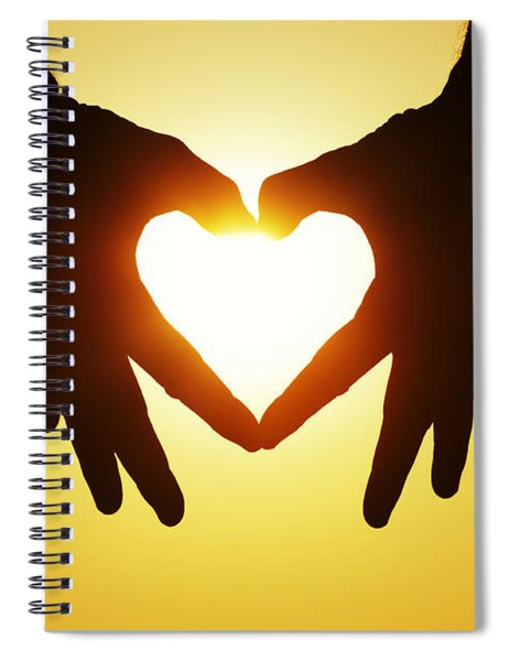 Heart Hands Spiral Notebook