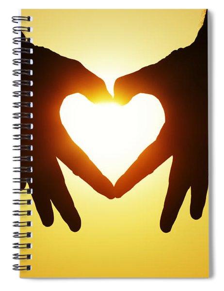 Heart Hands Spiral Notebook