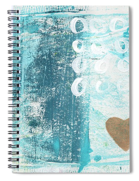 Heart In The Sand- Abstract Art Spiral Notebook