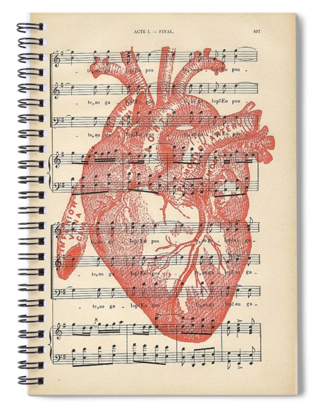 Heart Music Spiral Notebook