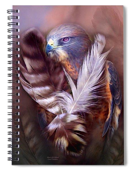 Heart Of A Hawk Spiral Notebook
