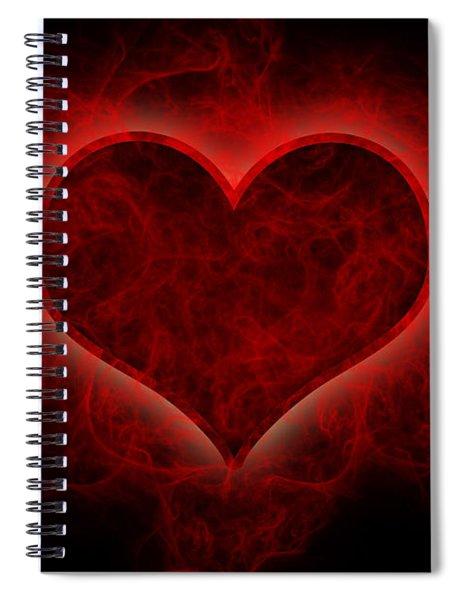Heart's Afire Spiral Notebook