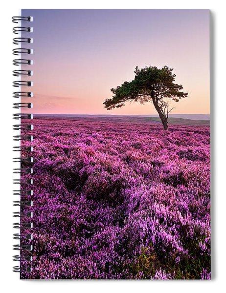 Heather At Sunset Spiral Notebook