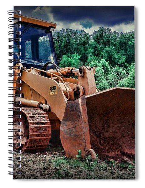 Heavy Construction Equipment - Bulldozer Spiral Notebook