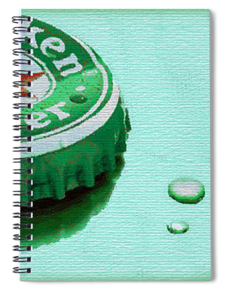Heineken Cap Green Spiral Notebook