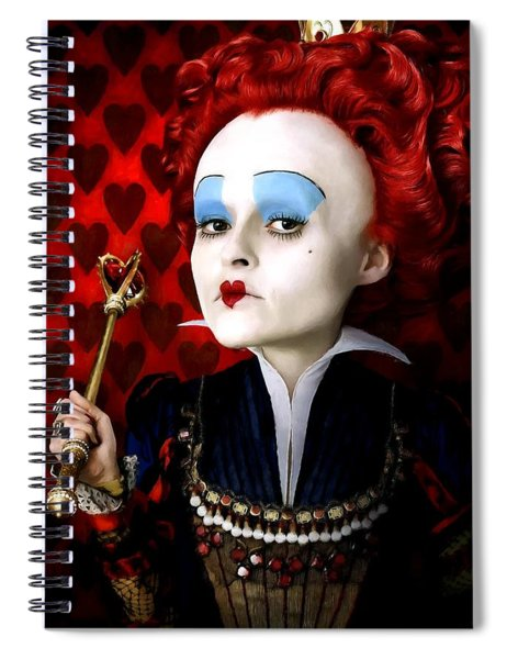 Helena Bonham Carter As The Red Queen In The Film Alice In Wonderland Spiral Notebook
