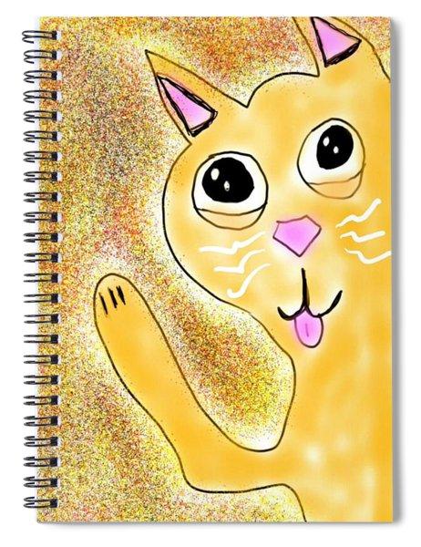 Hello Little Kitty Spiral Notebook