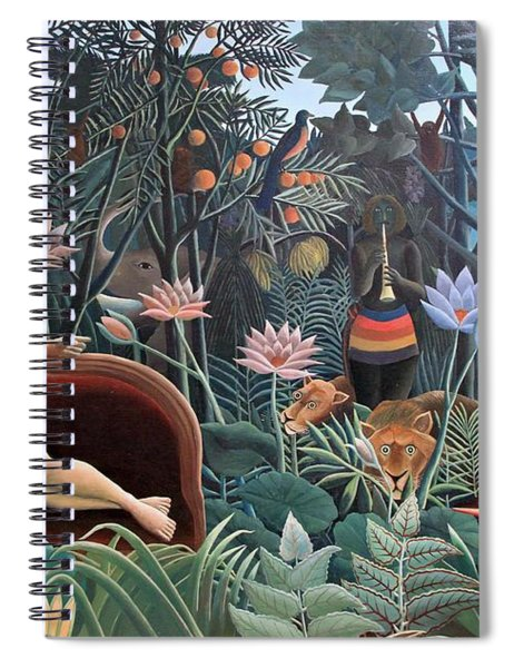 Spiral Notebook featuring the painting Henri Rousseau The Dream 1910 by Movie Poster Prints