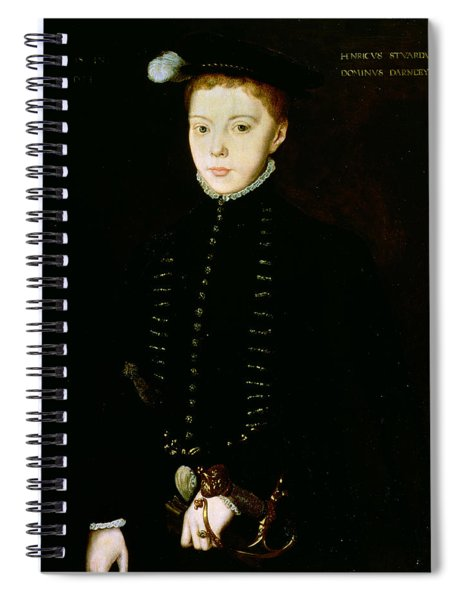 Henry Stewart, Lord Darnley, 1555 Oil On Panel Spiral Notebook