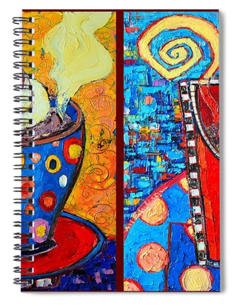 Her And His Coffee Cups Spiral Notebook