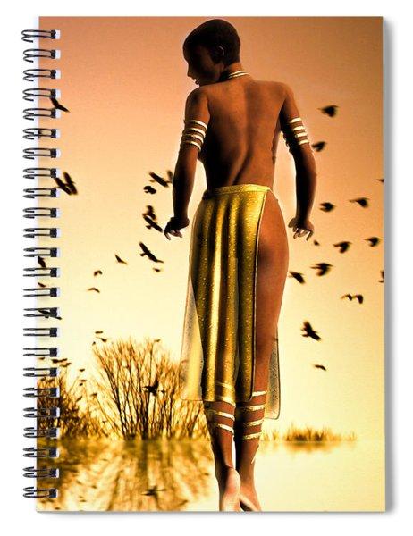 Her Morning Walk Spiral Notebook