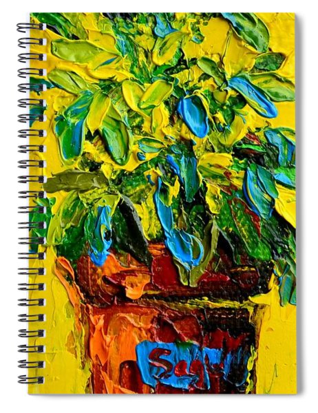 Herbal Plant Sage Tea Spiral Notebook
