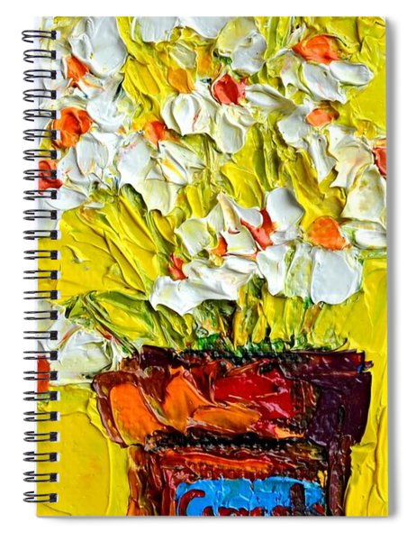 Herbal Tea Camomile Plant Spiral Notebook