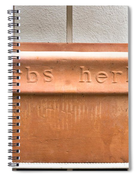Herbs Container Spiral Notebook