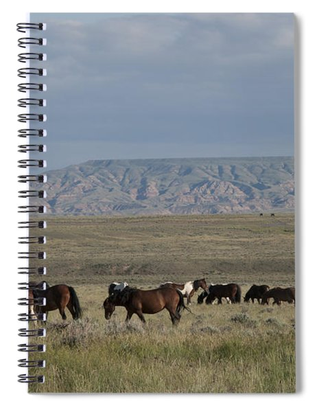 Herd Of Wild Horses Spiral Notebook