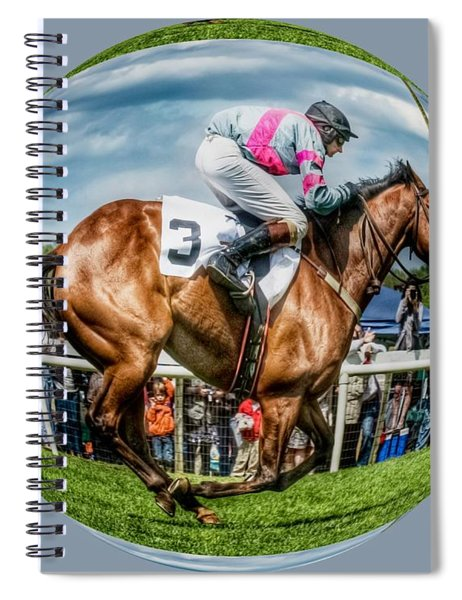Spiral Notebook featuring the photograph Here We Go Round In Circles by Robert L Jackson