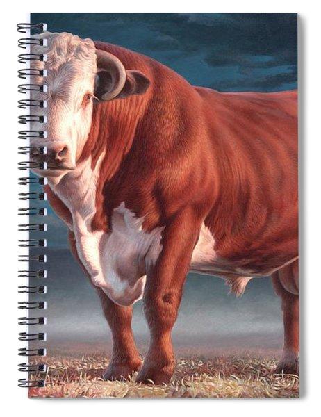 Hereford Bull Spiral Notebook