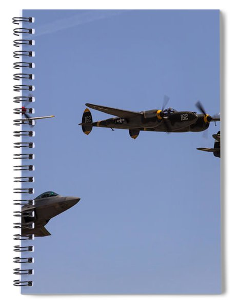 Heritage Flight Of Four Spiral Notebook