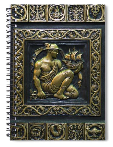 Hermes Bronze Plate Spiral Notebook