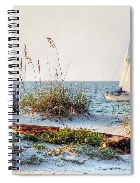 Heron And Sailboat Spiral Notebook