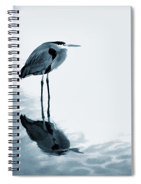 Heron In The Shallows Spiral Notebook