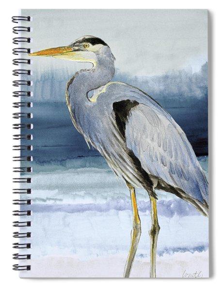 Heron On Blue  I Spiral Notebook