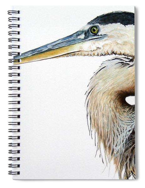 Heron Study Square Format Spiral Notebook