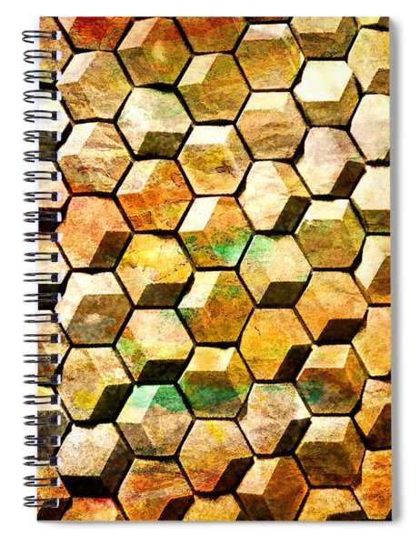 Hexacubes Spiral Notebook