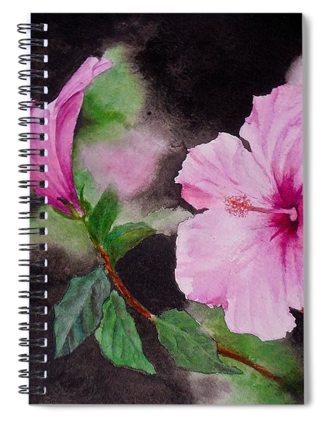 Hibiscus - So Pretty In Pink Spiral Notebook