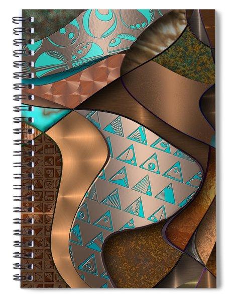 Hieroquoise Cupriglyphs Spiral Notebook