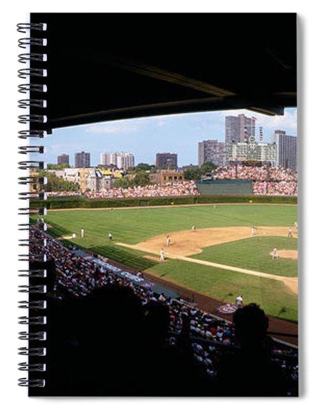 High Angle View Of A Baseball Stadium Spiral Notebook